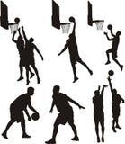 Basketspelare - kontur Arkivbilder