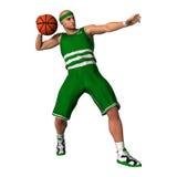 Basketspelare med bollen Royaltyfria Bilder