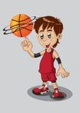 Basketspelare som isoleras på vit Arkivbild