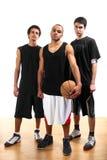 basketspelare tre royaltyfria bilder