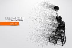Basketspelaren inaktiverade också vektor för coreldrawillustration Arkivbild