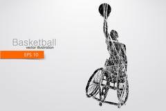 Basketspelaren inaktiverade också vektor för coreldrawillustration Arkivbilder