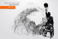 Basketspelaren inaktiverade också vektor för coreldrawillustration Royaltyfria Foton
