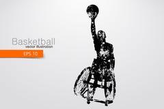 Basketspelaren inaktiverade också vektor för coreldrawillustration Fotografering för Bildbyråer