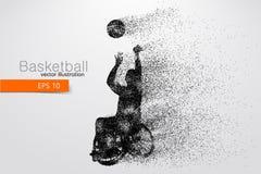 Basketspelaren inaktiverade också vektor för coreldrawillustration Royaltyfria Bilder