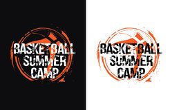 BasketSummerCamp illustration libre de droits