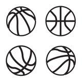 Basketsymbol i fyra variationer Vektor EPS 10 Arkivbilder