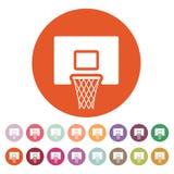 Basketsymbolen modigt model symbol för överdängare 3d plant vektor illustrationer
