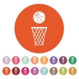 Basketsymbolen modigt model symbol för överdängare 3d plant Stock Illustrationer
