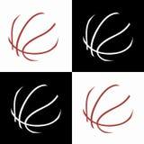 Basketsymboler Arkivfoto