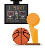 Basketsymbolsdesign Royaltyfri Fotografi