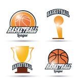 Basketsymbolsdesign Fotografering för Bildbyråer