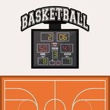 Basketsymbolsdesign Royaltyfria Foton