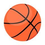 Basketsymbolstecknad film Enkel sportsymbol från den stora konditionen som är sund, genomkörareuppsättning Royaltyfri Bild