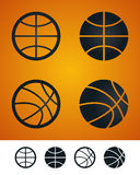 baskettecken stock illustrationer
