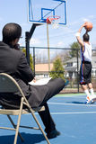 baskettränare Arkivfoto