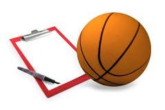 baskettränareset arkivbild