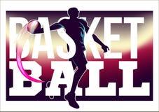 Basketturneringreklamblad Royaltyfri Bild