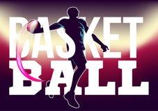 Basketturneringreklamblad Arkivfoto