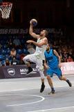 Basketvärlden för FIBA 3X3 turnerar förlage Arkivbilder