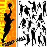basketvektor royaltyfri illustrationer
