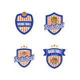 Basketvektor Logo Template Arkivfoto