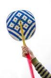 Basketwork, бамбуковый вентилятор Стоковое Фото