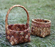 Basketwork. Baskerwork in ethnographic open air museum Riga Stock Photos