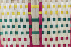 Basketwork. Colorful wooden Basketwork Handicraft pattern Royalty Free Stock Photography