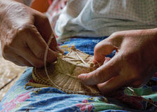 Basketwork. Hand to basketwork of Thailand Royalty Free Stock Images