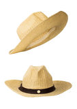 Basketwork hat. Traditional basketwork hat isolated on white background Stock Photo