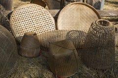 Basketwork som är handgjord från naturen Royaltyfri Fotografi