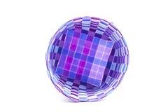 Basketwork som göras från plast- Arkivbild