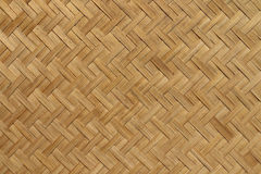 Basketwork twill weave pattern. The basketwork in twill weave pattern made from bamboo Royalty Free Stock Photography