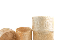 The basketwork on white Royalty Free Stock Photo