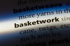Basketwork. Word in a dictionary.  concept Royalty Free Stock Images
