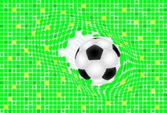 Baskground verde roto bola Imagen de archivo libre de regalías