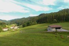 Baskijski kraju tradicional dom w Oma obrazy stock