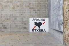 Baskijski pelota sąd z dużym obrazem o baskijskich więźniach zdjęcie royalty free