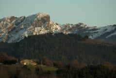 Baskijskie kraj góry Fotografia Royalty Free