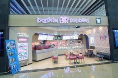 Baskin br robbins shop in Jeju international airport. Baskin br robbins shop, located in Jeju international airport, South Korea. baskin br robbins sells Stock Photos
