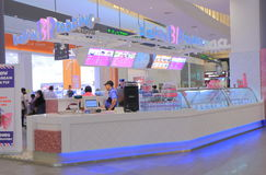 Baskin Robbins glass shoppar Royaltyfria Foton