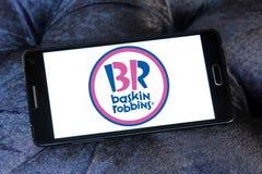 Baskin robbins ice cream chain logo Royalty Free Stock Image