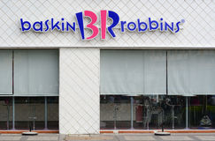 Baskin Robins ice-cream shop in Saigon, Vietnam Royalty Free Stock Images