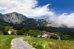 Baskische boerderijen royalty-vrije stock foto's