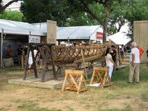 Baskische Bootbouw Royalty-vrije Stock Foto's
