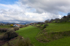 Baskische kust, Frankrijk, Spanje Stock Foto
