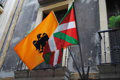 Baskische vlaggen Royalty-vrije Stock Fotografie