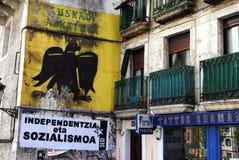Baskisches nationalistisches Wandgemälde Lizenzfreies Stockfoto