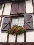 Baskiskt fönster i Frankrike Arkivfoto